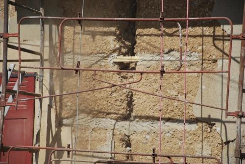 pisé, ruine, ouverture, chape, chaux sable, chantier participatif, Formaterre, accompagnement, ,