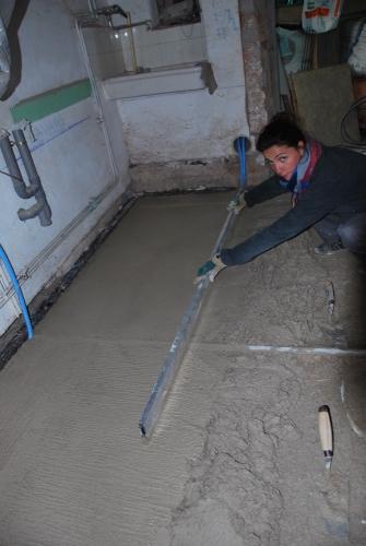 pisé, chape, chaux sable, chantier participatif, Formaterre, accompagnement, ,