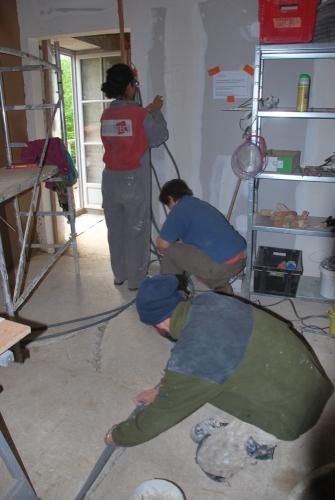 électricité, chantier participatif, pisé