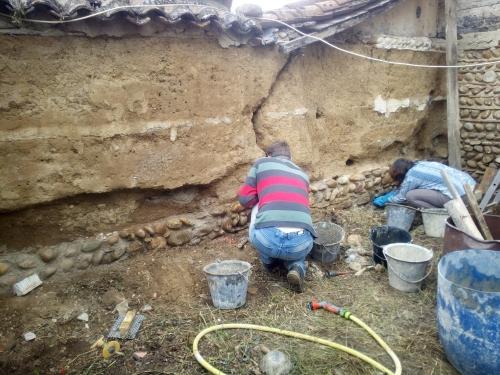 pisé, mortier terre, chantier participatif, chantiers participatifs, ouverture, pisé, Formaterre
