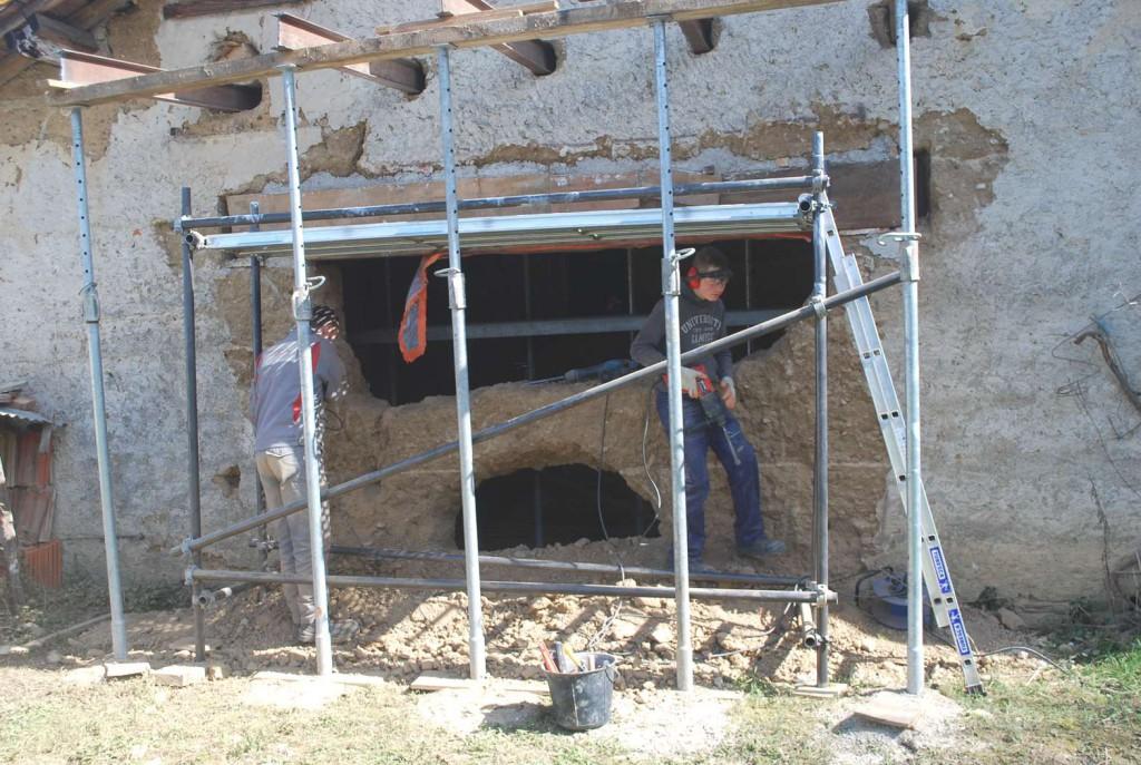 Chantier Record Réalisé : Ouverture De 3 M Dans Un Mur En Pisé À