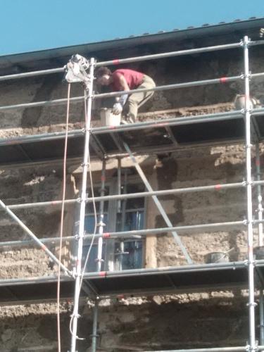 façade, chaux, chantier participatif, Formaterre