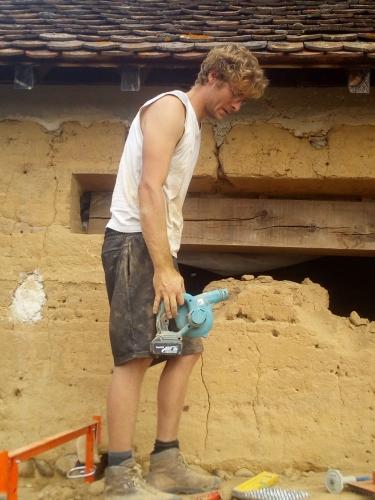 mortier terre, chantier participatif, chantiers participatifs, ouverture, pisé, Formaterre